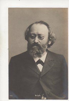 Max Bruch German Composer & Conductor Vintage RP Postcard Music 332b