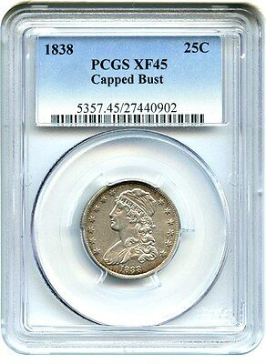 1838 Capped Bust 25c PCGS XF45 - Bust Quarter