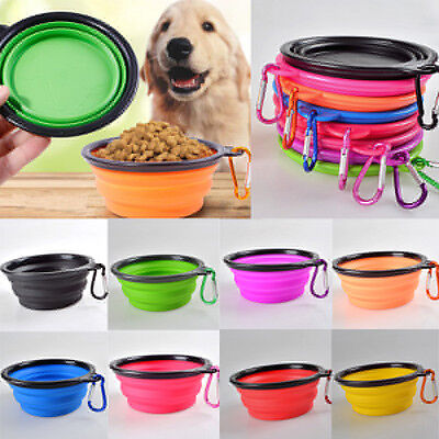 Silicone Folding Bowl Pet Dog Food Feeding Water Feeder Travel Portable Bowl