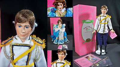 Paradise Galleries Cinderella Prince Charming Porcelain Doll Set
