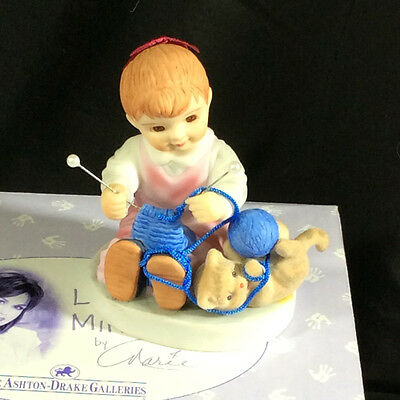 """**ashton Drake Marie Osmond Little Miracles Unwind And Have A Ball 3""""  Figurine"""