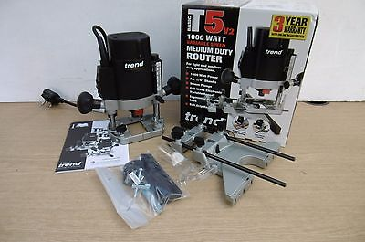 "Trend T5Eb 1000W Medium Duty Plunge Router 1/4"" Collet 240V   Special Offer"