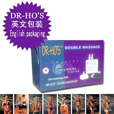 DR HO'S Dual Double Muscle Massager Therapy System Pain Relieve Relax Stimulator