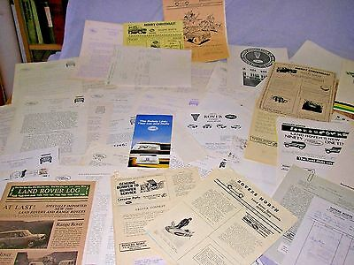 Lot of 1980's Land Rover North Newsletters plus more