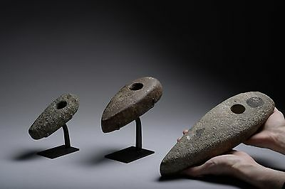 Three Prehistoric Stone Age Neolithic Axes - 2600 BC