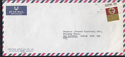 c.1973 35c Mapping National Development Australia Air Mail Postal Cover to GB UK