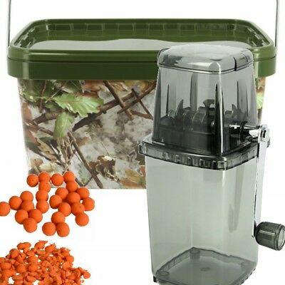 NGT Bait Grinder Crusher Chopper and 12l Bucket for Carp Fishing Boilies Pellets