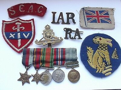 second war vintage  chindit  miniature  medals and patches