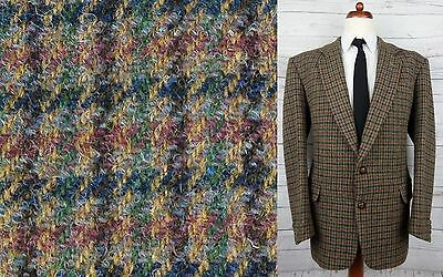 Vtg Country Check Houndstooth Harris Tweed Jacket Hacking -44- CR39