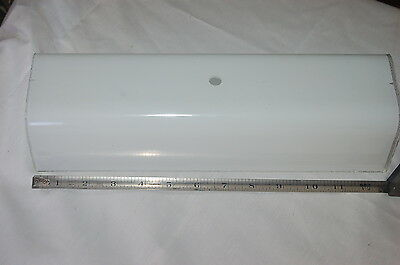 "Vintage 13"" Rectangle Bathroom Frosted Vanity Lamp Cover/Shade.Hard to Find Type"