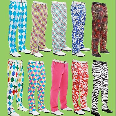 Royal & Awesome Golf Trousers All Styles Waist 30,32,34,36,38,40,42,44 Clearance