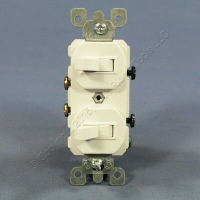 brown single pole double toggle wall light switch control duplex new leviton white double wall light switch duplex toggle 15a single pole 5224 2w