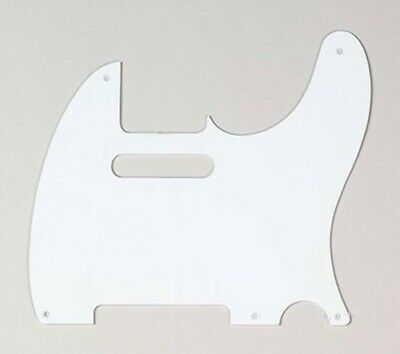 NEW - Pickguard For Fender Tele, 5 Mounting Holes, 1-Ply - WHITE