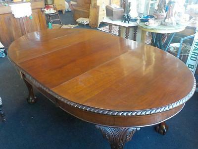 Edwardian Mahogany Dining Table With 1 Leaf Seats 6 People