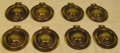 Lot of 8 Brass Vintage Style Bed Bolt Screw Covers Cabinet Furniture Hardware