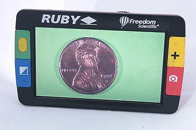 Ruby Freedom Scientific Handheld Low Vision Video Magnifier (23-6C)