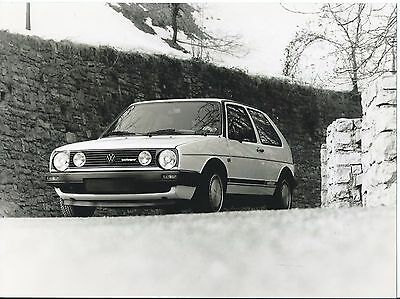 VW Volkswagen Golf Oettinger Turbo Diesel Press Photograph 1985 Front/Side view