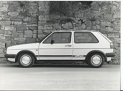 VW Volkswagen Golf Oettinger Turbo Diesel Press Photograph 1985 Side View