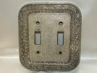 Ornate Vintage Preowned Cast Iron Metal Light Switch Plate by Melard