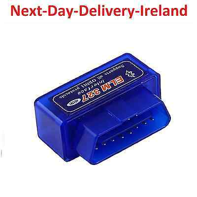 Mini ELM327 V2.1 OBD2 II Bluetooth Diagnostic Car Auto Interface Scanner Tool