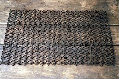 Antique Heart Shaped Door Mat Metal Linked Floor Mat 1800's AH10311601