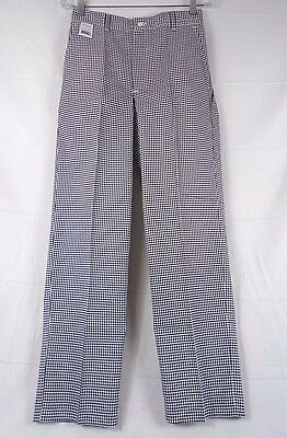EWC Houndstooth Chef Pants Size 30 Unhemmed #6572 227N