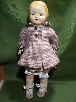 Vintage Doll ~✿~ 1930's Effanbee Composition Cloth Girl Baby Dainty 15""