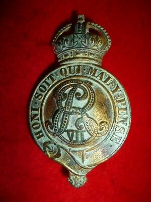 Edward VII Muted Gilt Officer's Horse Martingale Badge, British / Colonial NWMP