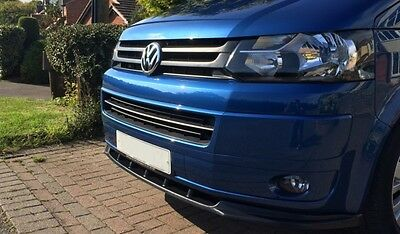 Cup Spoilerlippe Front Diffusor Schwarz VW T5 Facelift