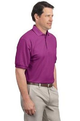 12 Silk Touch 65/35 Polo Shirts S-XL Embroidered Free With Ur Business Name