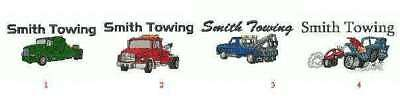 4 Zippered Hoodie 2-3XL Personalized4Ur Tow Truck Co.