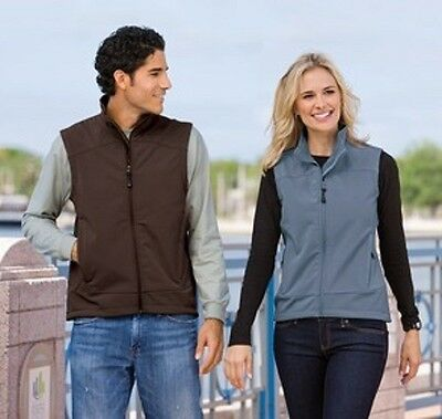 4 New Soft Shell Vests XS- 2XL Embroidered Free4Ur Company W Front logo