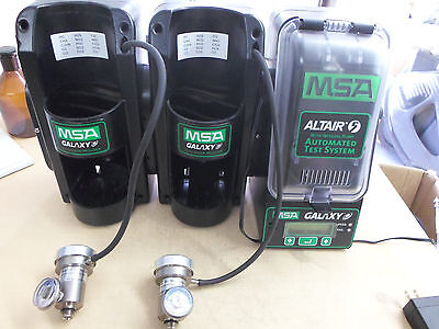 MSA Altair 5 Multigas Detector Automated Test System GALAXY w/ 2 Cylinder Holder