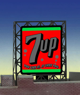 7UP Soda Animated Billboard Sign for N Z Scale Miller 338945