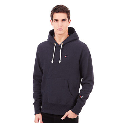Champion - Basic Reverse Weave Terry Hoodie Navy Kapuzenpullover Hooded Sweater