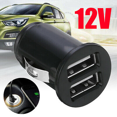 New Black 12V Power Dual 2 Port USB  Car Charger Adapter for iPhone 5 6s 7