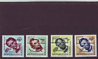 a117 - HAITI - SG644-647 MNH 1959 WORLD REFUGEE YEAR