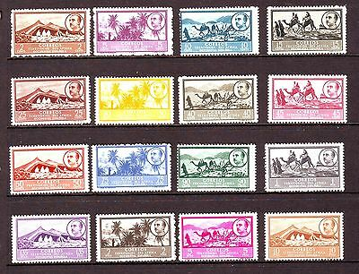 SPANISH WEST AFRICA - SG3-18 MLH 1949 DEFINITIVES 2c - 10p FRANCO & VIEWS
