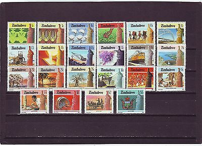 ZIMBABWE - SG659-680 MLH 1985 DEFINITIVES 1c - $5 - NATIONAL INFRASTRUCTURE