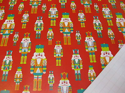 20 Metres Soldier Nutcracker Wrapping Paper Gift Wrap Christmas Birthday Rolls