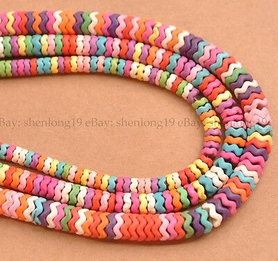"""15"""" Multi-Colored Turquoise Howlite Gemstone Rondelle Spacer Beads"""
