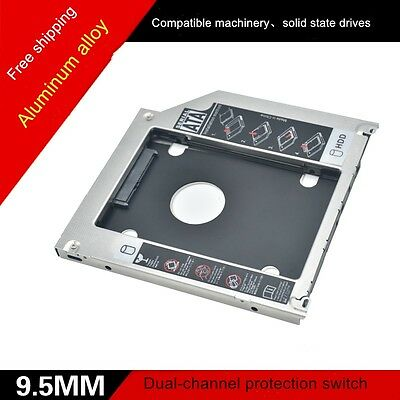 Universal SATA 3.0 HDD HD Hard Drive Caddy Case for 9.5mm Laptop CD / DVD-ROM