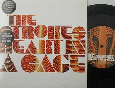 """THE STROKES - Heart In A Cage ~ 7"""" Single PS"""