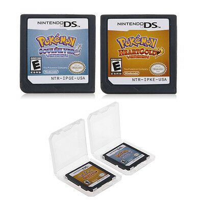Pokemon HeartGold Soulsilver Game Card For DS 3DS Lite NSDI NDSLL