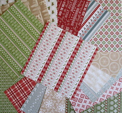 """Christmas Wishes 6x6"""" Scrapbook Papers 16 sheets by First Edition - Nordic style"""