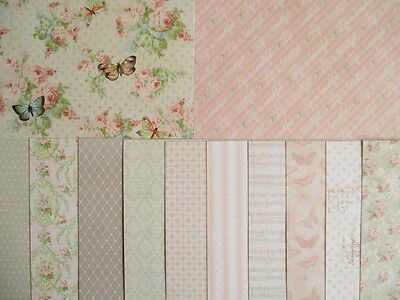 """Dovecraft Floral Muse 12 sheets 6x6""""  Scrapbook backing Papers"""