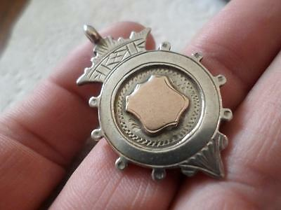 Antique English Hallmarked Sterling Silver Pocket Watch Chain Fob Medal 1925