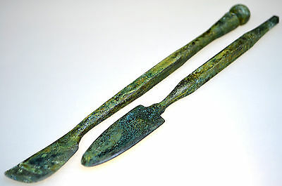 Lot of two Roman Bronze Medical Cosmetic Instruments