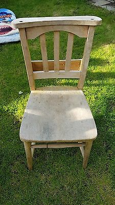 Antique Vintage  Chapel Church Cafe Chairs shabby chic