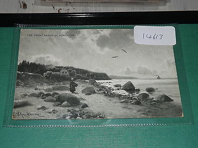 Old postcard our ref#14613 THE ROCKY SANDS OF PORTRUSH